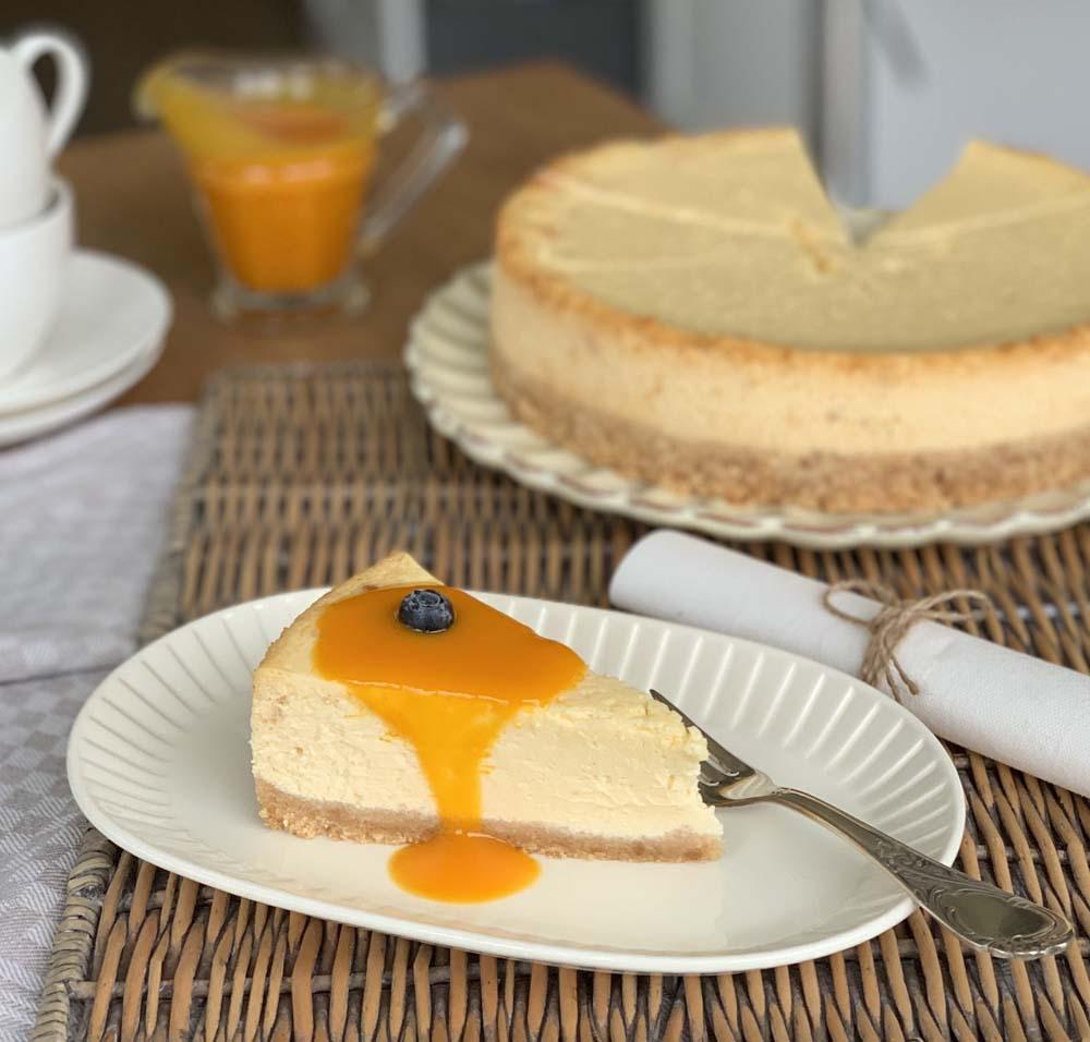 Rezept für New York Cheesecake mit Mangosauce
