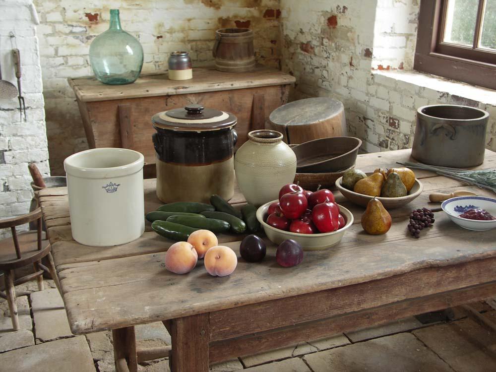 Historische Küche einer Plantage in Virginia / USA