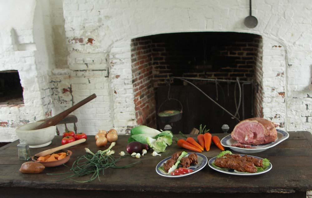 Historische Feuerstelle auf Plantage in den USA