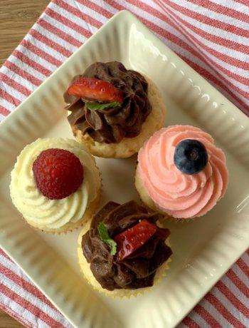 Rezept für kleine Vanille-Cupcakes