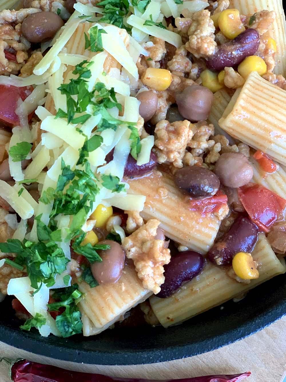 USA-Rezept für TexMex Pasta mit Huhn