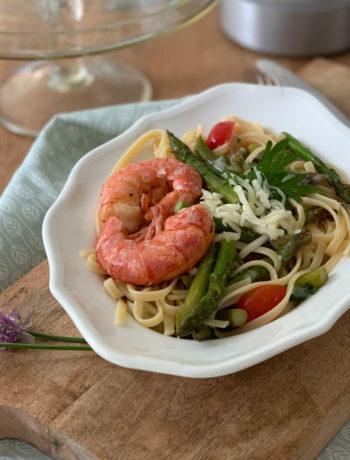 Rezept für Pasta mit Grünspargel