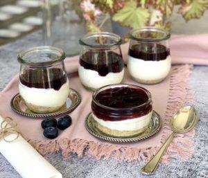 USA-Rezept für Cheesecake-Dessert im Glas