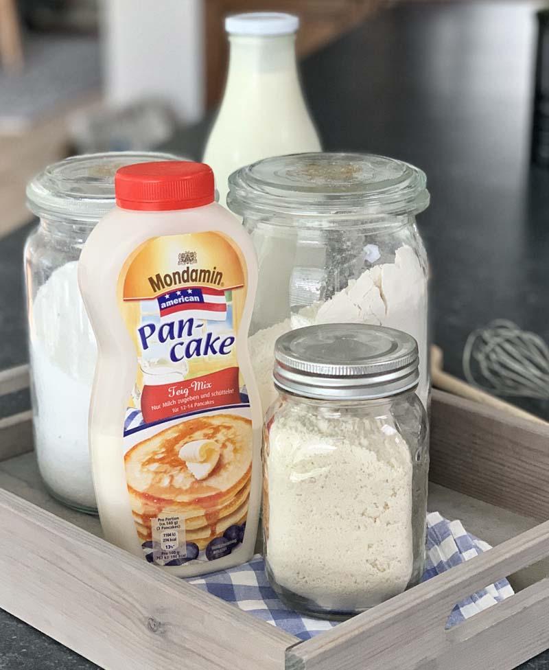 Gekaufter und selbst gemachter Pancake Mix im Vergleich
