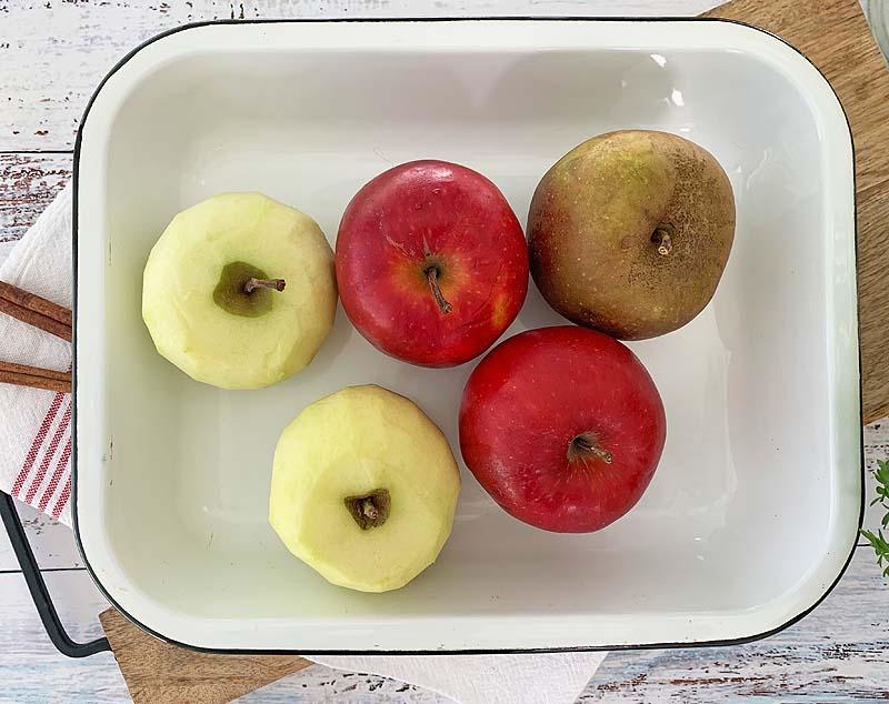 Apfelsorten für Apple Crumble