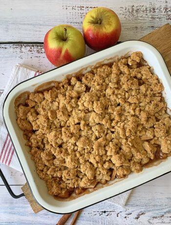 USA-Rezept für Apple Crumble, Apfelstreusel