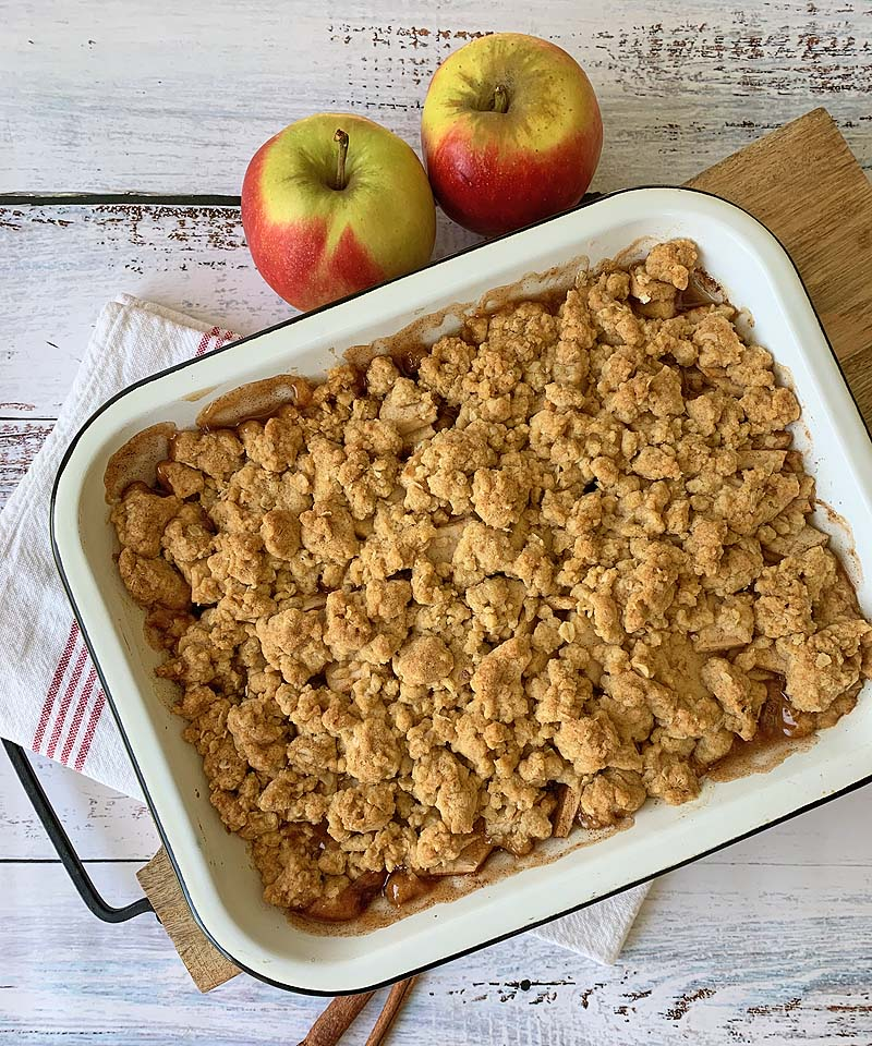 Apple Crumble (Apfel-Streusel-Dessert)