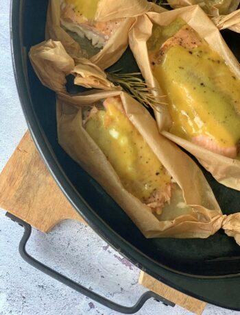 Rezept für Honey Mustard Salmon von Grill oder Backofen