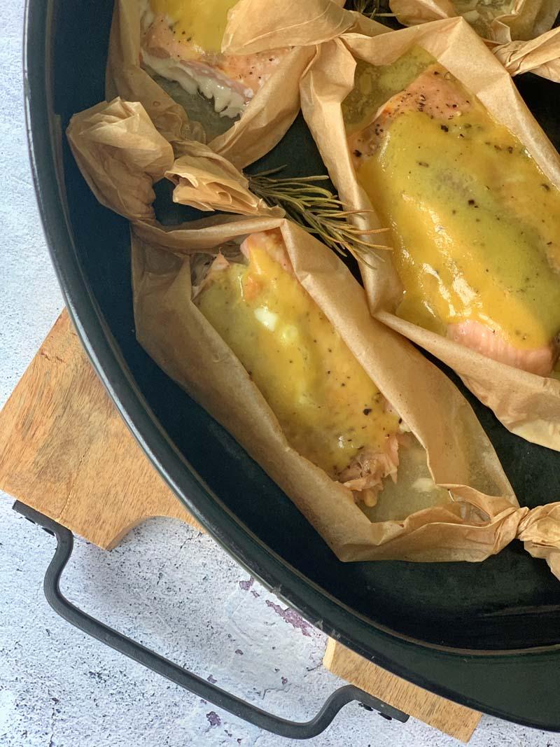 Honey-Mustard Salmon (gegrillter Lachs)