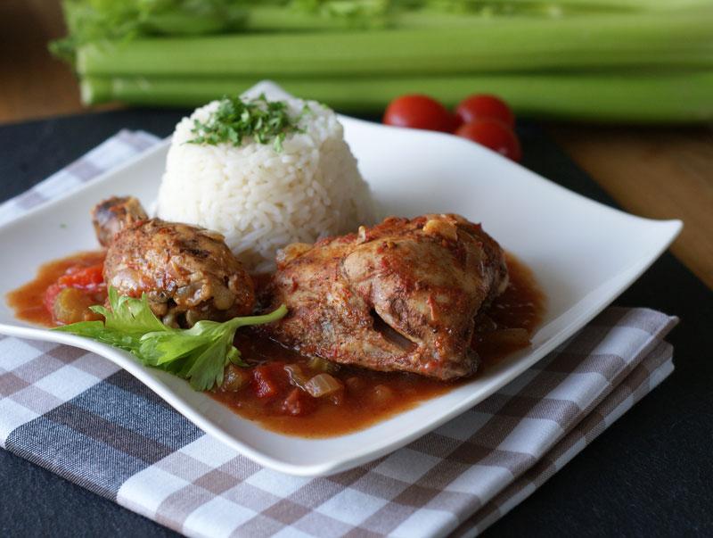 Creole Chicken (kreolisches Hühnchen)