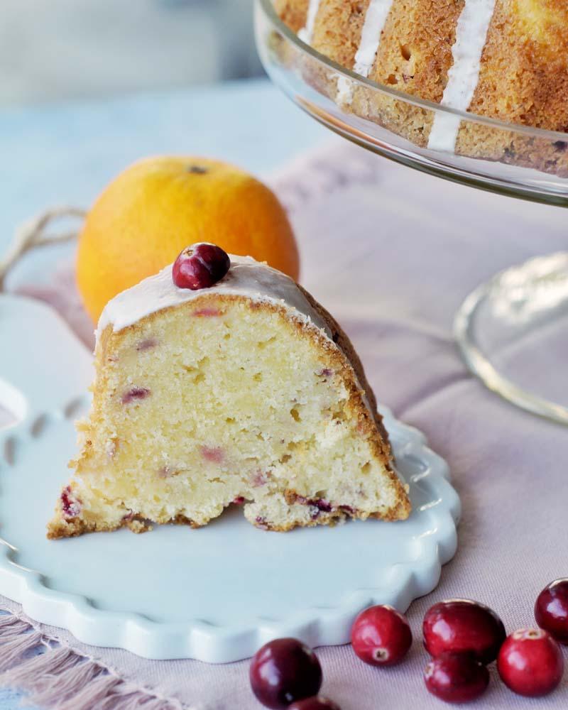 Rezept für Orange Bundt Cake with Cranberries