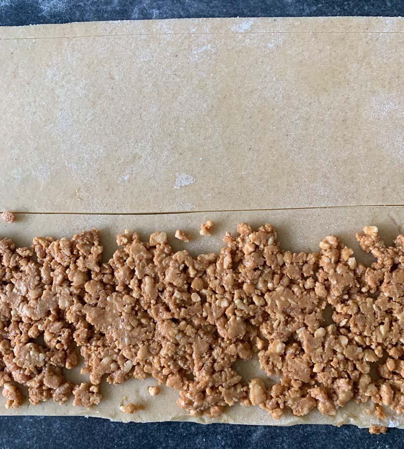 Zubereitung der Erdnussstangen