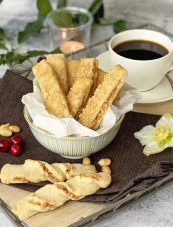 Rezept für Erdnussstangen (Plätzchen)