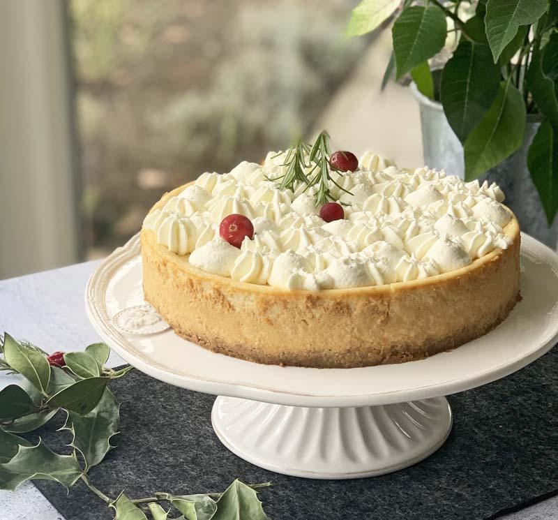 USA-Rezept für Eggnog Cheesecake