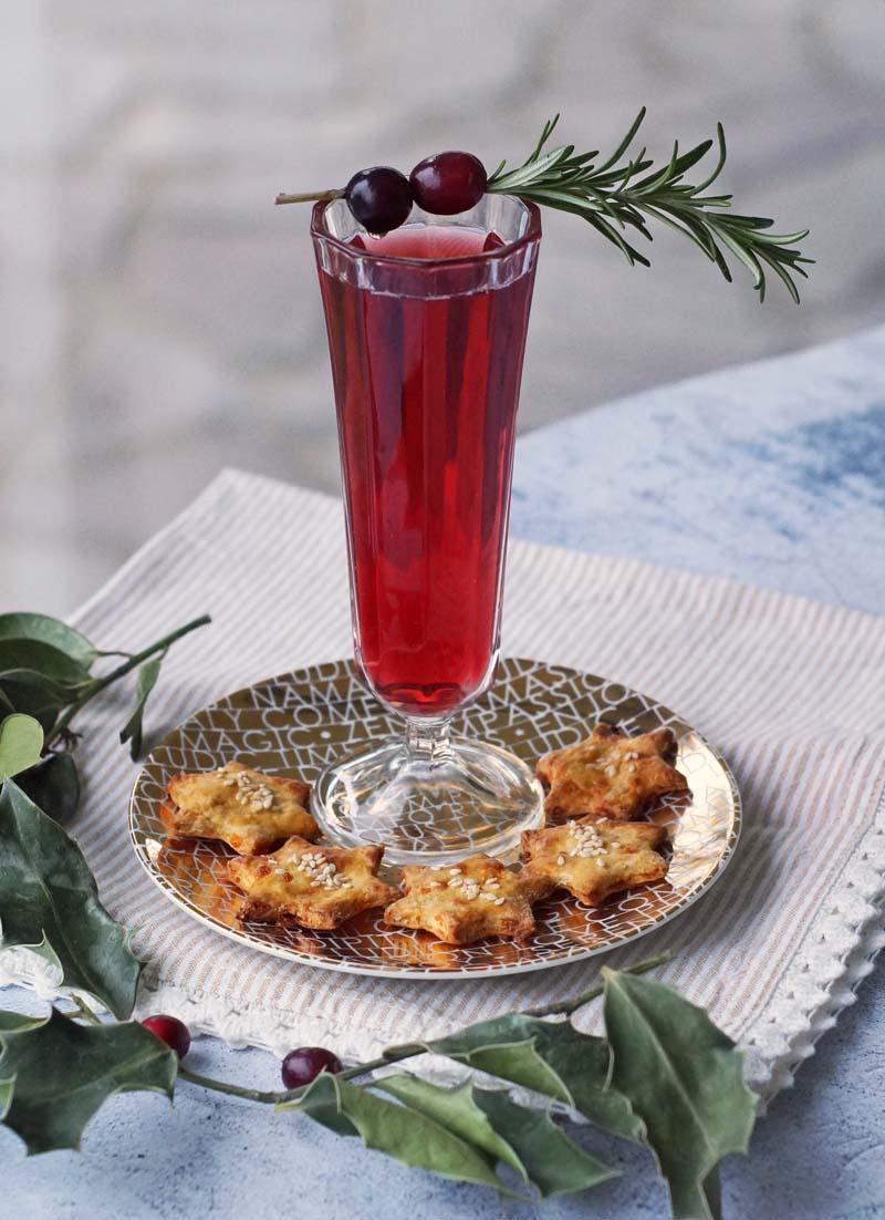 USA-Rezept für Cranberry Mimosas