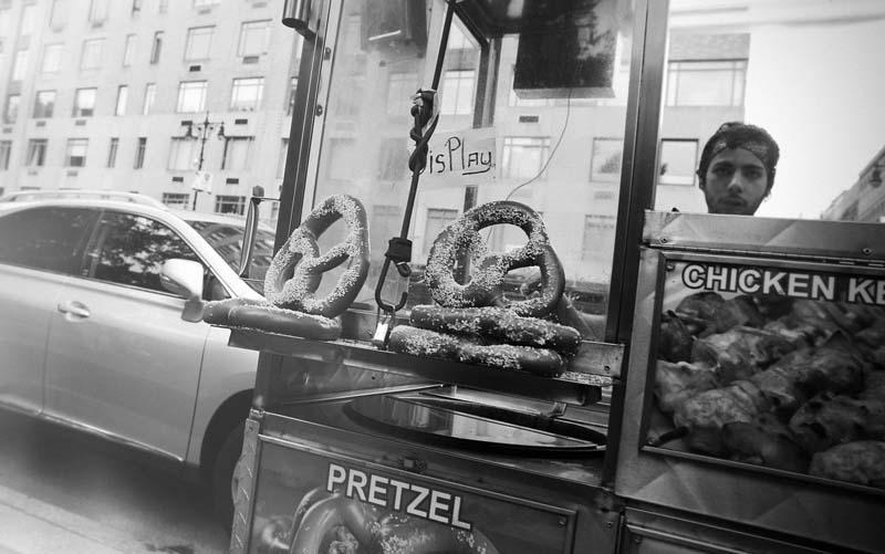 Pretzel-Stand in New York