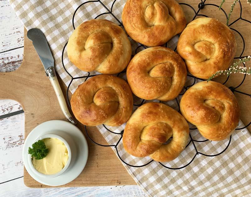 Hot Buttered Soft Pretzels