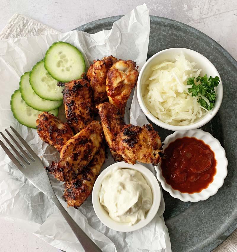 Barbecue Chicken Wings aus dem Airfryer