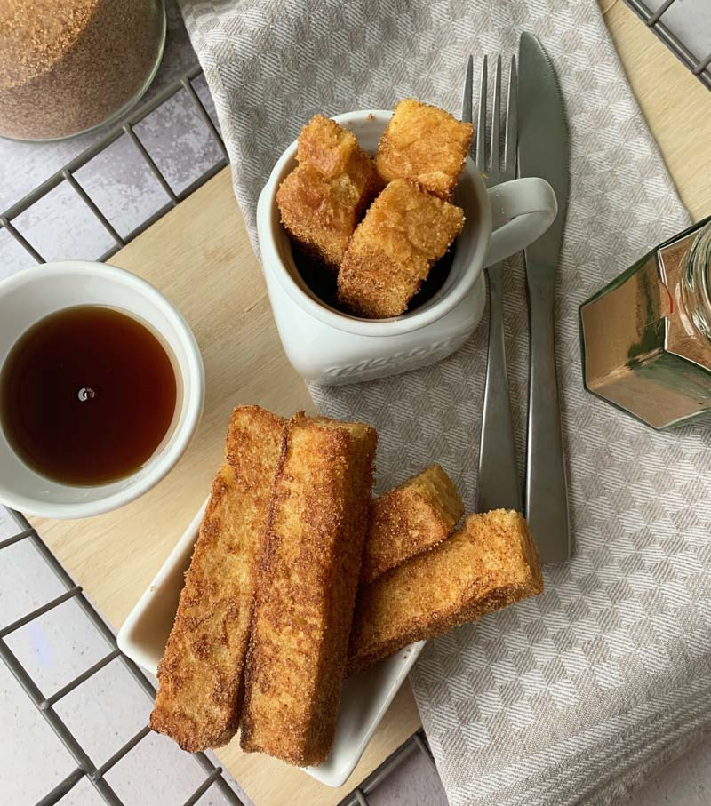 French Toast Sticks aus selbst gebackenem Toastbrot
