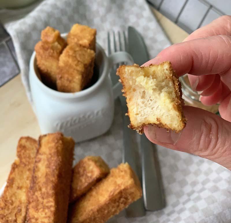 USA-Rezept für French Toast Sticks und selbst gemachtes Toastbrot