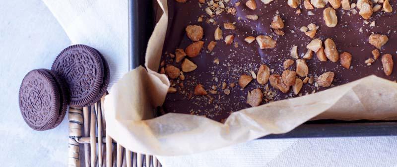 USA-Rezept für Peanut Butter Caramel Kuchenriegel