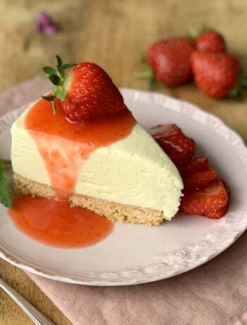 No-Bake-Cheesecake mit Erdbeeren