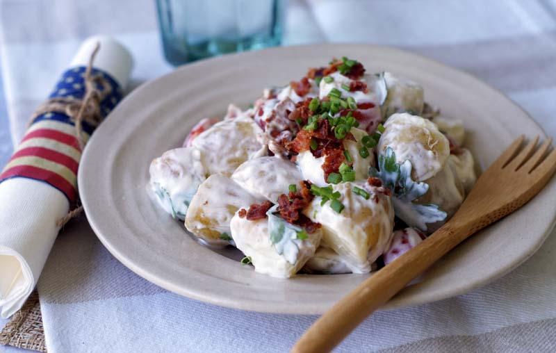 BLT Potato Salad (mit Speck & Tomaten)