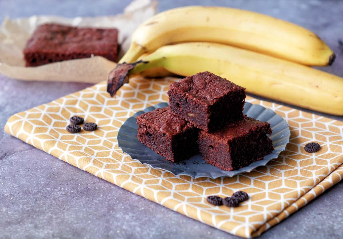 Banana Fudge Brownies (Bananen-Brownies)