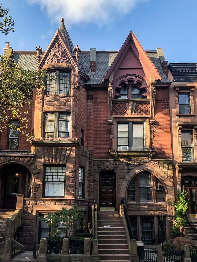 Häuser am Park Slope in Brooklyn