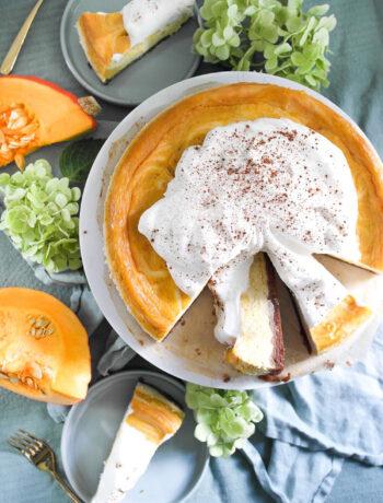Rezept für Pumpkin Cheesecake mit Zimtsahne