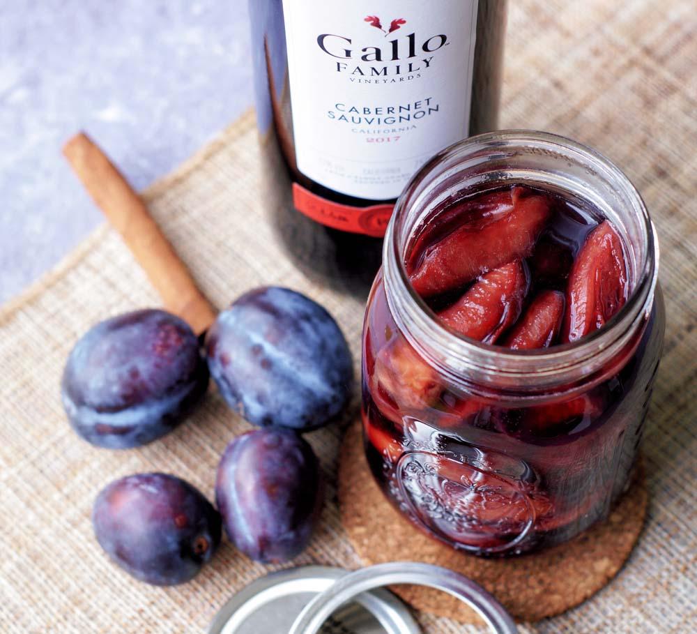 USA-Rezept für Rotweinpflaumen