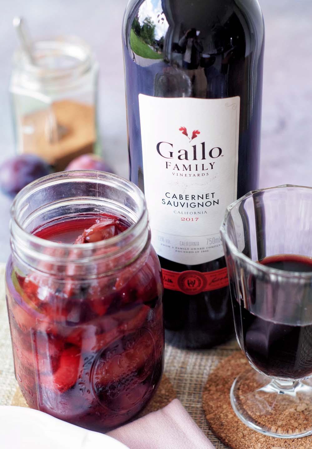 Rezept für Rotweinpflaumen